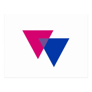 BISEXUAL TRIANGLE SYMBOL POST CARDS