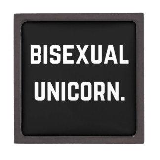 Bisexual Unicorn Humor Illustration Collection Jewelry Box