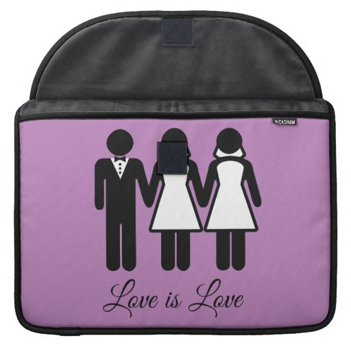 BISEXUAL WEDDING LOVE IS LOVE -.png Sleeve For MacBook Pro