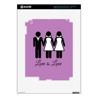 BISEXUAL WEDDING LOVE IS LOVE -.png Skin For iPad 3