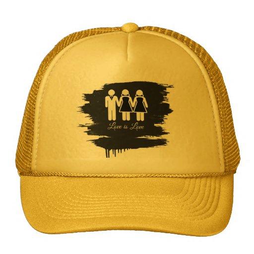 BISEXUAL WEDDING LOVE IS LOVE -.png Trucker Hat
