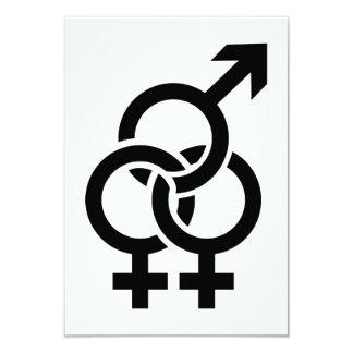 Bisexual woman card
