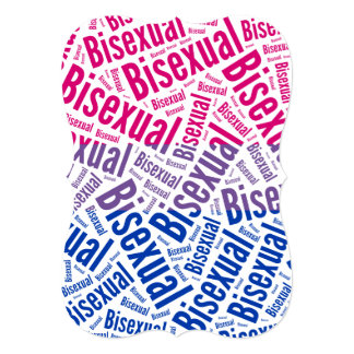 BISEXUAL WORD PATTERN FLAG ANNOUNCEMENT