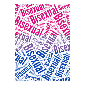 "BISEXUAL WORD PATTERN FLAG 5"" X 7"" INVITATION CARD"