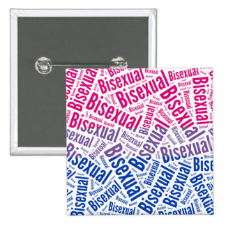 BISEXUAL WORD PATTERN FLAG -.png 2 Inch Square Button