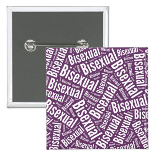 BISEXUAL WORD PATTERN WHITE -.png 2 Inch Square Button