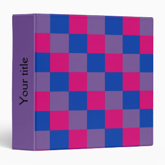 Bisexuality colors checkered pattern binder 3 ring binder