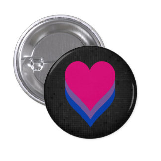 Bisexuality flag black button