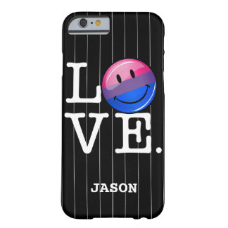 Bisexuality Flag inside the Word Love Barely There iPhone 6 Case