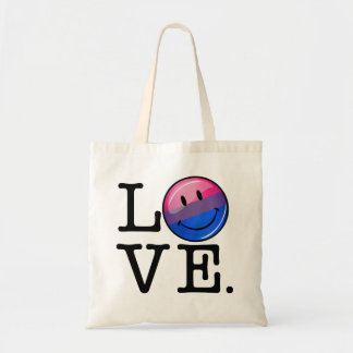 Bisexuality Flag inside the Word Love Tote Bag