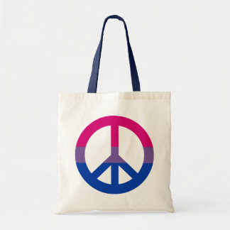 Bisexuality flag peace sign Tote
