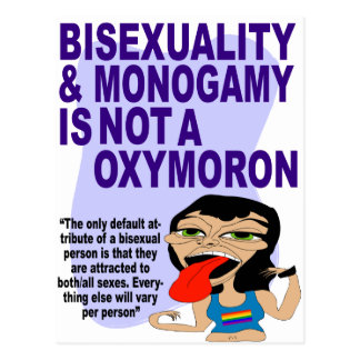 Bisexuality & Monogamy Postcard