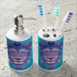 Bisexuality Pride Bathroom Kit Soap Dispenser And Toothbrush Holder