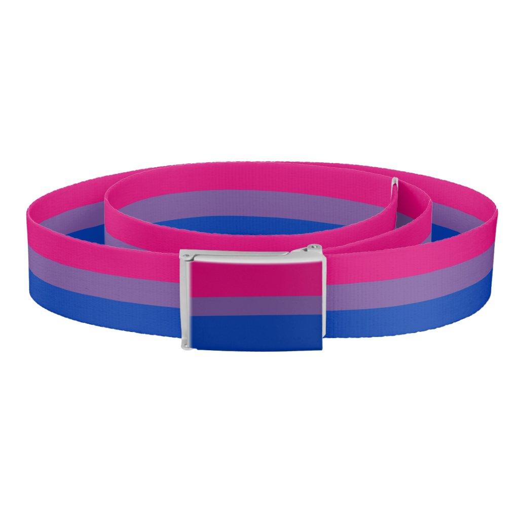 Bisexuality pride flag belt