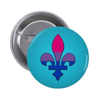 Bisexuality pride fleur-de-lis  Button Buttons