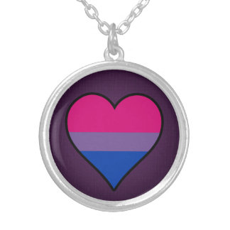 Bisexuality pride heart Necklace