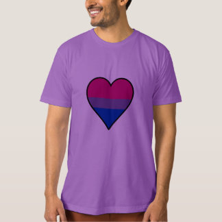 Bisexuality pride heart T-shirt