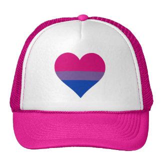 Bisexuality pride heart Trucker Hat Mesh Hats