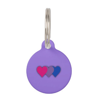 Bisexuality pride hearts pet ID tag
