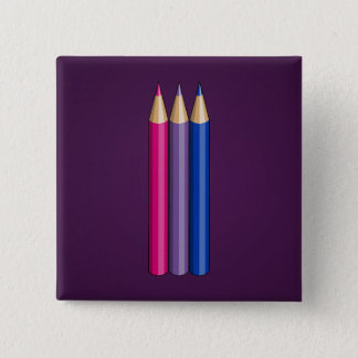 Bisexuality pride pencils Button