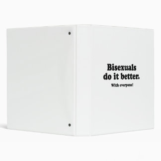 Bisexuals do it better 3 ring binder