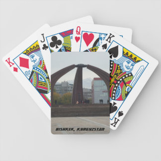 Bishkek Frunze Victory Square - USSR Monument Bicycle Playing Cards
