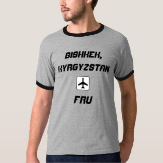 Bishkek, Kyrgyzstan Airport Code T-Shirt