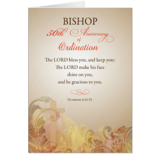 Bishop, 50th Anniversary of Ordination Blessing Card