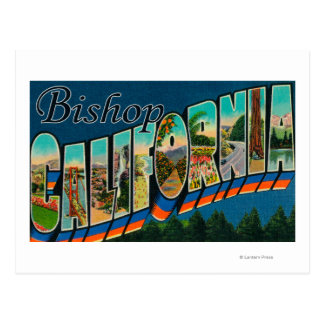 Bishop, California - Large Letter Scenes Postcard