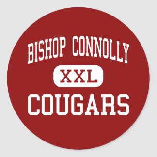 Bishop Connolly - Cougars - High - Fall River Classic Round Sticker