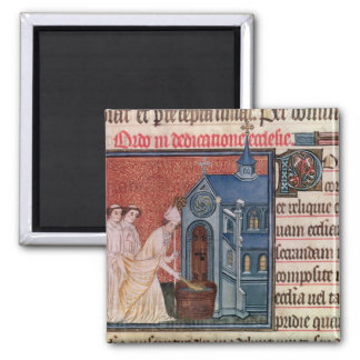 Bishop Consecrating a church 2 Inch Square Magnet