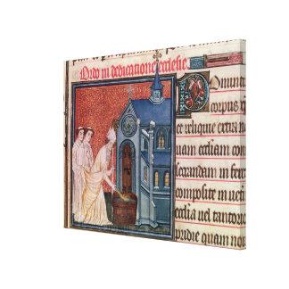 Bishop Consecrating a church Canvas Print