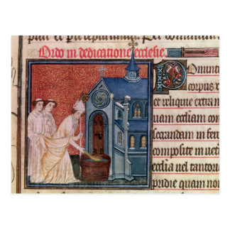 Bishop Consecrating a church Postcard
