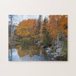Bishop Creek. Outlet and fall color Jigsaw Puzzle