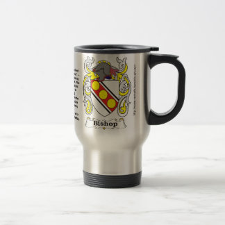 Bishop Family Coat of Arms on a Travel Mug