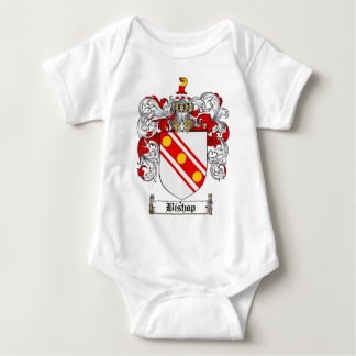 BISHOP FAMILY CREST -  BISHOP COAT OF ARMS INFANT CREEPER