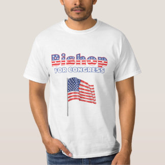 Bishop for Congress Patriotic American Flag Tee Shirt
