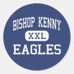 Bishop Kenny - Eagles - High - Jacksonville Round Stickers