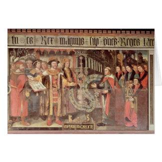 Bishop Robert Sherburne with Henry VIII Card