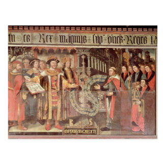 Bishop Robert Sherburne with Henry VIII Postcard
