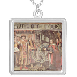Bishop Robert Sherburne with Henry VIII Silver Plated Necklace