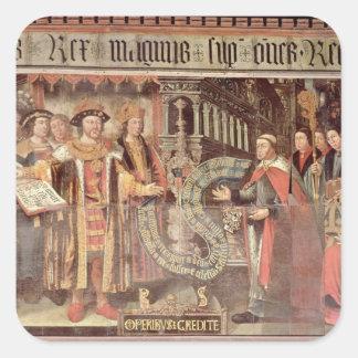 Bishop Robert Sherburne with Henry VIII Square Sticker