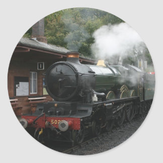 Bishops Lydeard station, West Somerset Railway, UK Classic Round Sticker