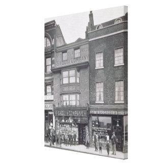 """Bishopsgate, de los """"edificios históricos de Londr Impresiones De Lienzo"""