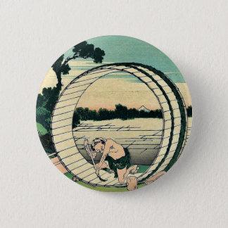 Bishu fujimigahara by Katsushika, Hokusai Ukiyoe Pinback Button