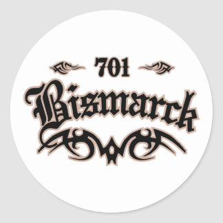 Bismarck 701 pegatina redonda