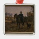 Bismarck a caballo con el perro ornamento de navidad