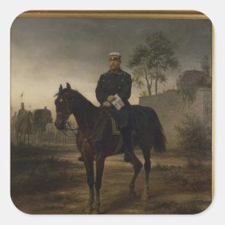 Bismarck before Paris, 1873 Square Sticker
