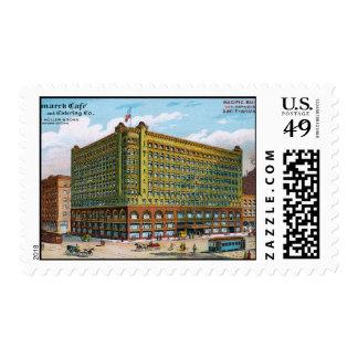 Bismarck Cafe Postage Stamp