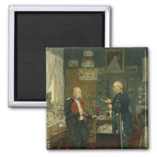 Bismarck con el emperador Wilhelm I Imán Cuadrado